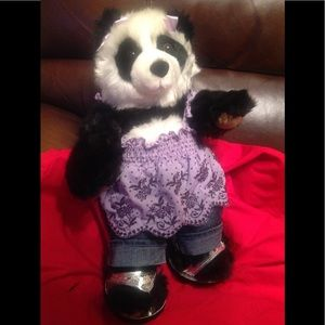 Authentic Build A Bear Panda with outfit